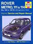 Rover Metro, 111 and 114 Service and...
