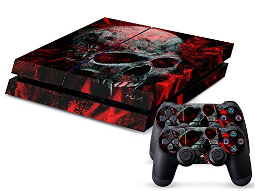 Sony PS4 Playstation 4 Skin Design Foils Sticker Set - Vampire Skull Motivo