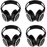OUKU®4PCS 4 Pack of Two Channel Foldable Universal Rear Entertainment System Infrared Headphones Wireless IR DVD...
