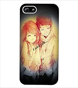 ColourCraft Love Design Back Case Cover for APPLE IPHONE 5S