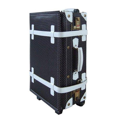 ハナイズム トランクキャリーバッグ - HANA ism -S12 ドットブラック/キャリーケース・スーツケース