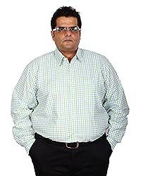 Xmex Men's Regular Fit Shirt (KR-226GREEN, Green, XXXX-Large)