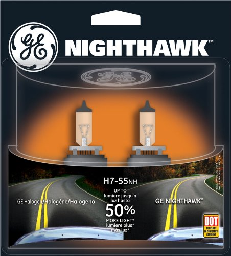 Ge H7-55Nh/Bp2 Nighthawk Automotive Replacement Bulbs, Pack Of 2 back-7235