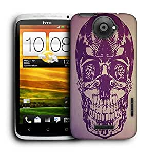 Snoogg Skull With Diamond Eyes Printed Protective Phone Back Case Cover For HTC One X