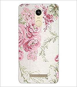 PrintDhaba Floral Pattern D-1976 Back Case Cover for XIAOMI REDMI NOTE 3 (MEDIA TEK) (Multi-Coloured)