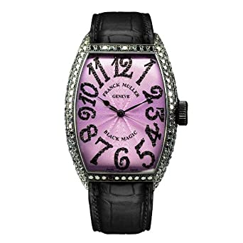 Franck Muller Black Magic WFM5850SCDWG Diamonds Automatic Stainless Steel Case Black Leather Women's Watch
