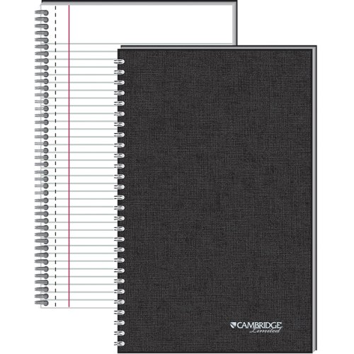 513VfYVVPJL. SL500  Mead Cambridge Wirebound Business Notebook, Legal Rule, 6 5/8 x 9 1/2 Inches, White, 80 Sheets per Pad (06672)