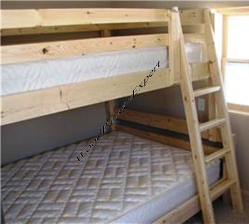 Bunk bed paper plans so easy beginners look like experts Whats bigger full or twin