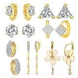 Jewels Galaxy Hot Deal Combo Of Fancy American Diamond Earrings And 1 Fashion Earring - Combo Of 7