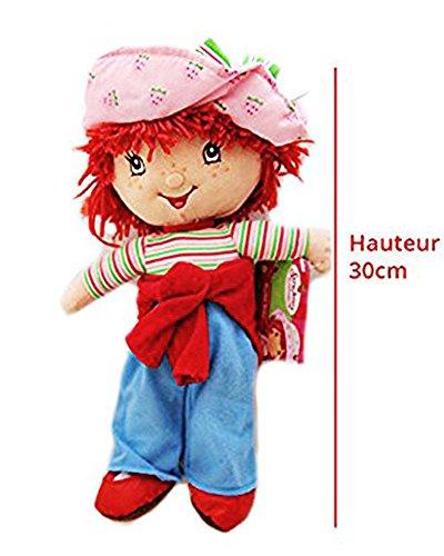 Peluche Charlotte aux fraises Poupée en tissu pour fille enfant Hauteur 30cm