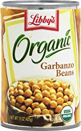 Libby\'s Organic Garbanzo Beans, 15-Ounces Cans (Pack of 12)