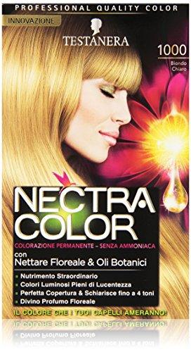 Testanera - Nectra Color, Colorazione Permanente, Senza Ammoniaca, 1000 Biondo Chiaro