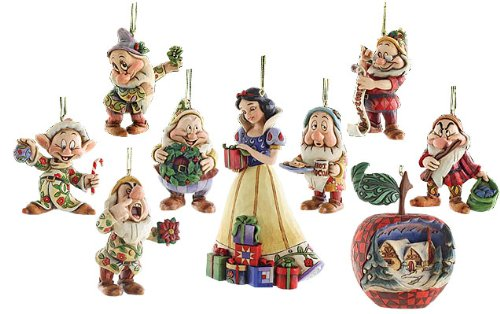 8# SNOW White and the 7 dwarfs- Holiday Ornament Set | !8: Jim ...