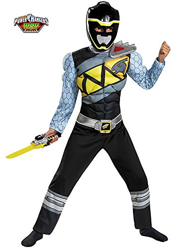 Black Power Ranger Dino Charge Classic Muscle Costume for Kids