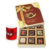 Valentine Chocholik Luxury Chocolates - Sweetened Chocolate Gift Box With Love Mug
