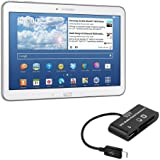 kwmobile 3in1 Micro USB Adapter Card Reader OTG for Samsung Galaxy Tab 4 10.1 T530 / T531 / T535 Black