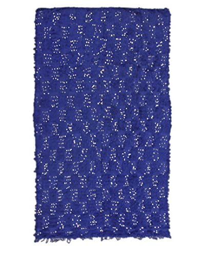 nuLOOM One-of-a-Kind Hand-Knotted Vintage Moroccan Wedding Shawl Rug, Sapphire, 5' 9 x 8' 6