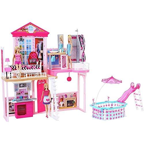 Barbie Haus 71 cm hoch 61 cm breit mit Möbel