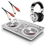 Pioneer DDJ-WEGO3-W + HPX2000 DJ初心者セット DJコントローラー iOS対応 ホワイト (パイオニア)