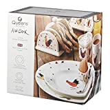 Alex Clark Earthenware Rooster 12-Piece Dinnerware Set, Multi-Colour