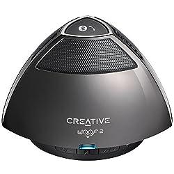 Creative Woof 2 Bluetooth Wireless Speaker (Gunmetal / Dark Grey)