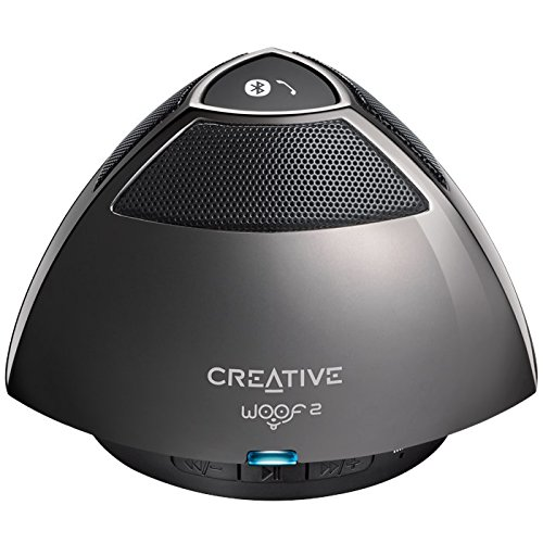Creative Woof 2 Bluetooth Wireless Speaker (Gunmetal / Dark Grey)