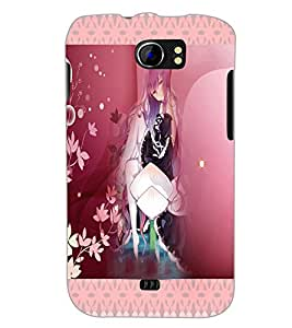 PrintDhaba Cute Animated Girl D-3582 Back Case Cover for MICROMAX A110Q CANVAS 2 PLUS (Multi-Coloured)