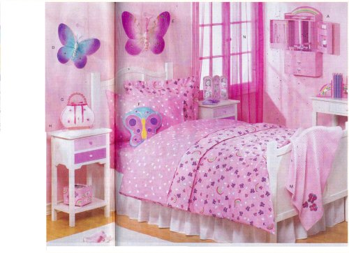 pink bed girl bedroom design
