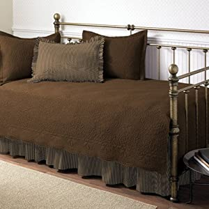 Stone Cottage Trellis 5-Piece Daybed Set, Chocolate