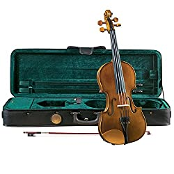 Cremona SV-150 Premier Student Violin Outfit 1/2 Half Size, Boxwood Fittings, Aging Toner, Prelude Strings, Deluxe  Case