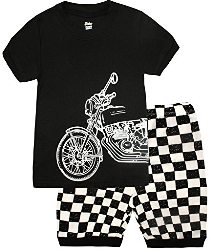 Boys Pajamas Motorcycle Kids Clothes Short Sets Size 7T