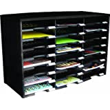 Storex 24-Compartment Literature Organizer/Document Sorter, Black (61611U01C)