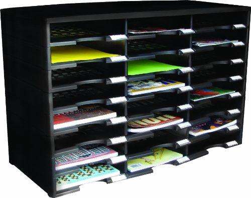 storex 24 compartment literature organizer document sorter With storex 24 compartment literature organizer document sorter black 61611u01c
