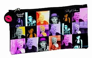 Quo Vadis Trousse Fourre-Tout plat Marilyn Monroe Mosaque en synthtique souple 23x12,5cm