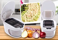 CPEX 3 in 1 Garlic Press Storage Container Tool Easy Slicer Removable Blade Grater