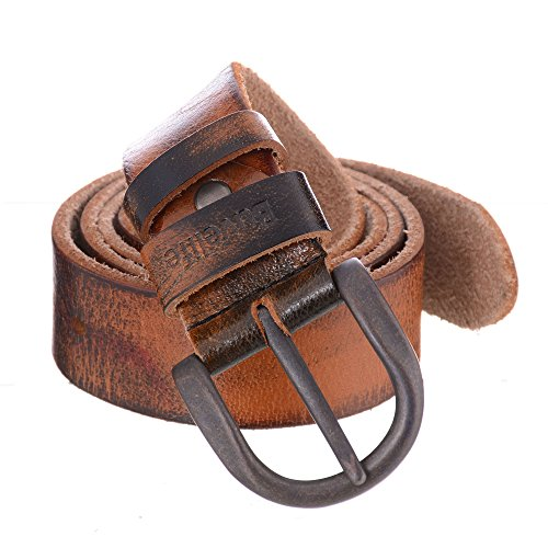 Buvelife Men's Vintage Leather Belt 100% Genuine Leather Belts (Solid Leather Belt compare prices)