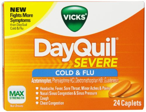 Vicks DayQuil Severe Cold & Flu Relief Caplets 24 Count