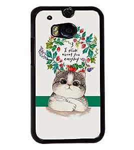 Printvisa 2D Printed Cat Designer back case cover for HTC One M8 - D4537