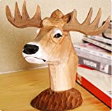 Best-mall Creative Wood Hand Carved Eyeglass Holder-Hold most style of eyewears-Great Gift For Anyone (Deer)
