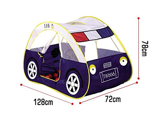 Battop Police Car Design Game Beach Tent Kids Tent Playhouse For Children Great Birthday Gift