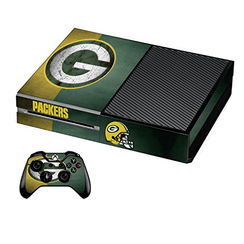 Xbox One Premium Designer Console Skin Green Bay + Bonus 2 Free Controller Skins Set from Kunashi