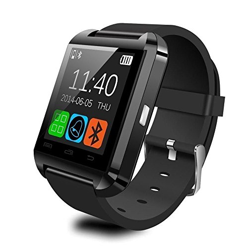 Mifine® Bluetooth Sport Watch Phone with Touch Screen for Android Samsung S3/S4/Note 4/Note 3, HTC, Sony,LG..partial function for iphone device,not support Andriod 5.0 system(black)