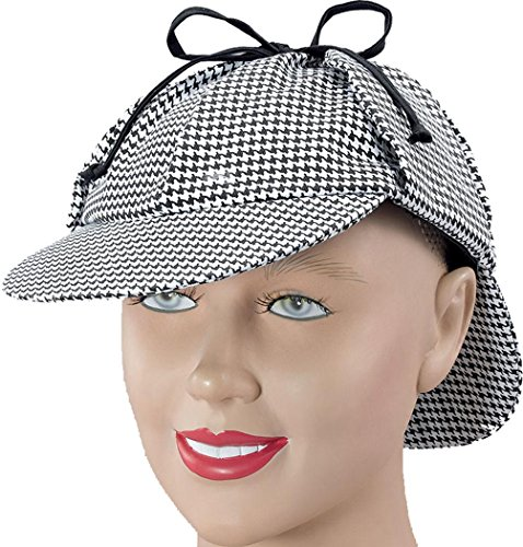 Fancy Party Dress Costume Headwear Sherlock Holmes Deerstalker Detective Hat