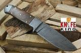 "Knife King ""Helmand-2"" Custom Damascus Handmade Hunting Knife. Comes with a sheath."