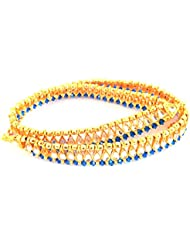 Megh Craft Women's Indian Fashion Style Gold Plated Kundan Anklet