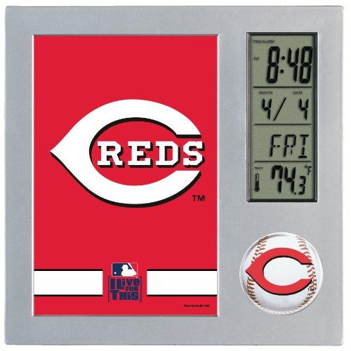MLB Cincinnati Reds Digital Desk Clock