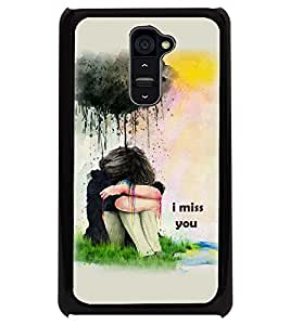 PRINTSWAG GIRL WITH QUOTE Designer Back Cover Case for LG G2