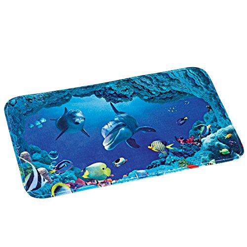 Collections Etc Dolphin Bay Ocean Life Bath Mat Bay Bath