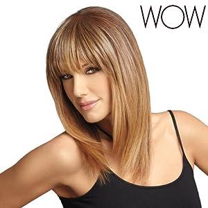 LUXHAIR WOW - Wow Bangs - Medium Brown & Blonde Blend & Rooted Dark