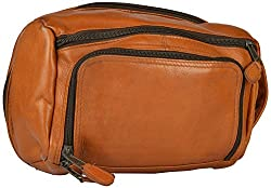 Western Lifestyles Unisex Leather Potli & Wristlet (Brown, 25cm x 12cm x 20cm)